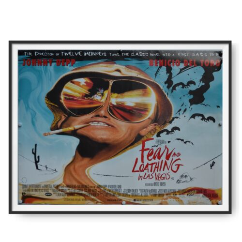 a poster for the film Fear and Loathing in Las Vegas