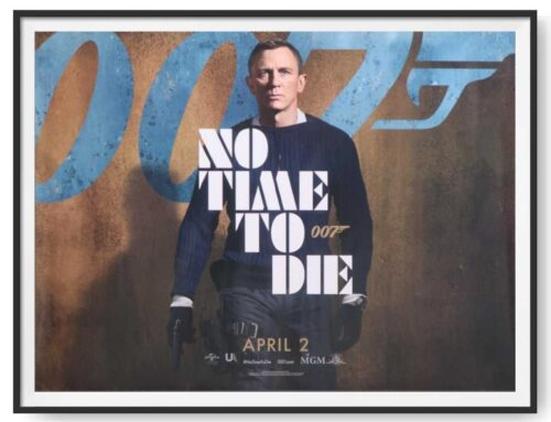 No Time to Die April 2020 UK Quad Poster