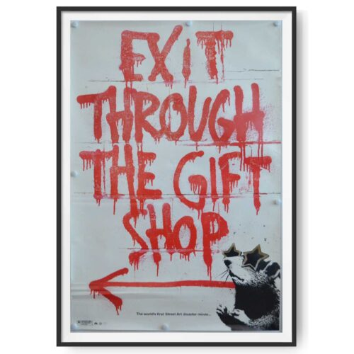 Framed Original US one sheet poster for the release of Exit Through the Gift Shop