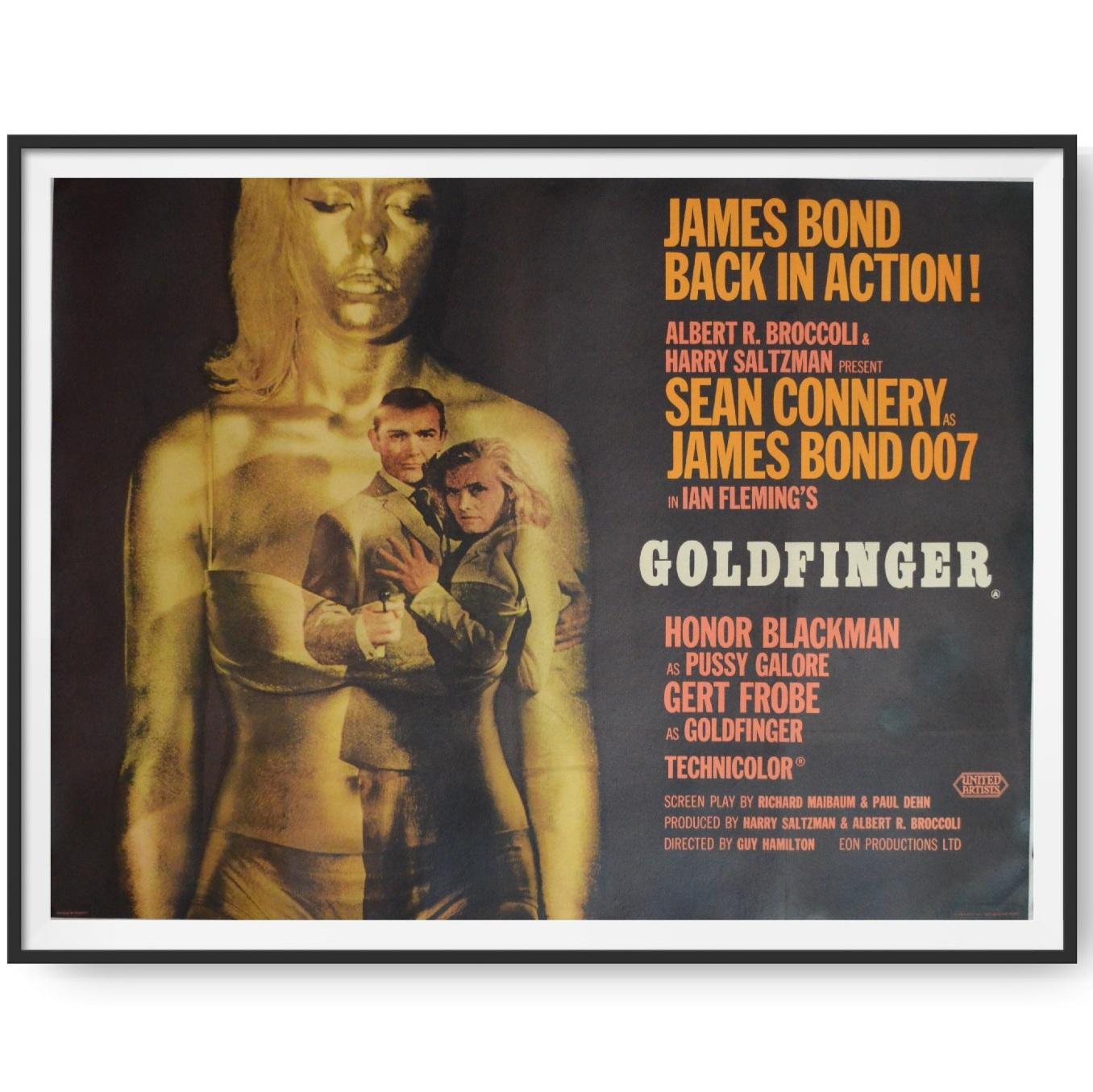 Original UK Quad Poster for the film Goldfinger