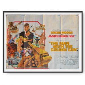 James Bond: The Man with the Golden Gun (1974) Original UK Quad Poster