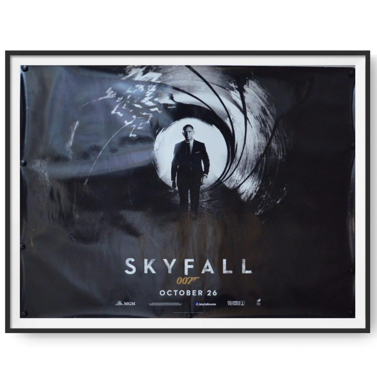 UK quad poster from the James Bond film Skyfall.