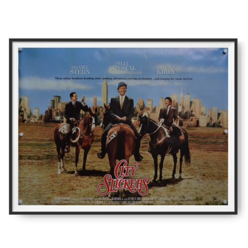 Poster shows a group of friends who swap city life for a holiday driving cattle from New Mexico to Colorado.