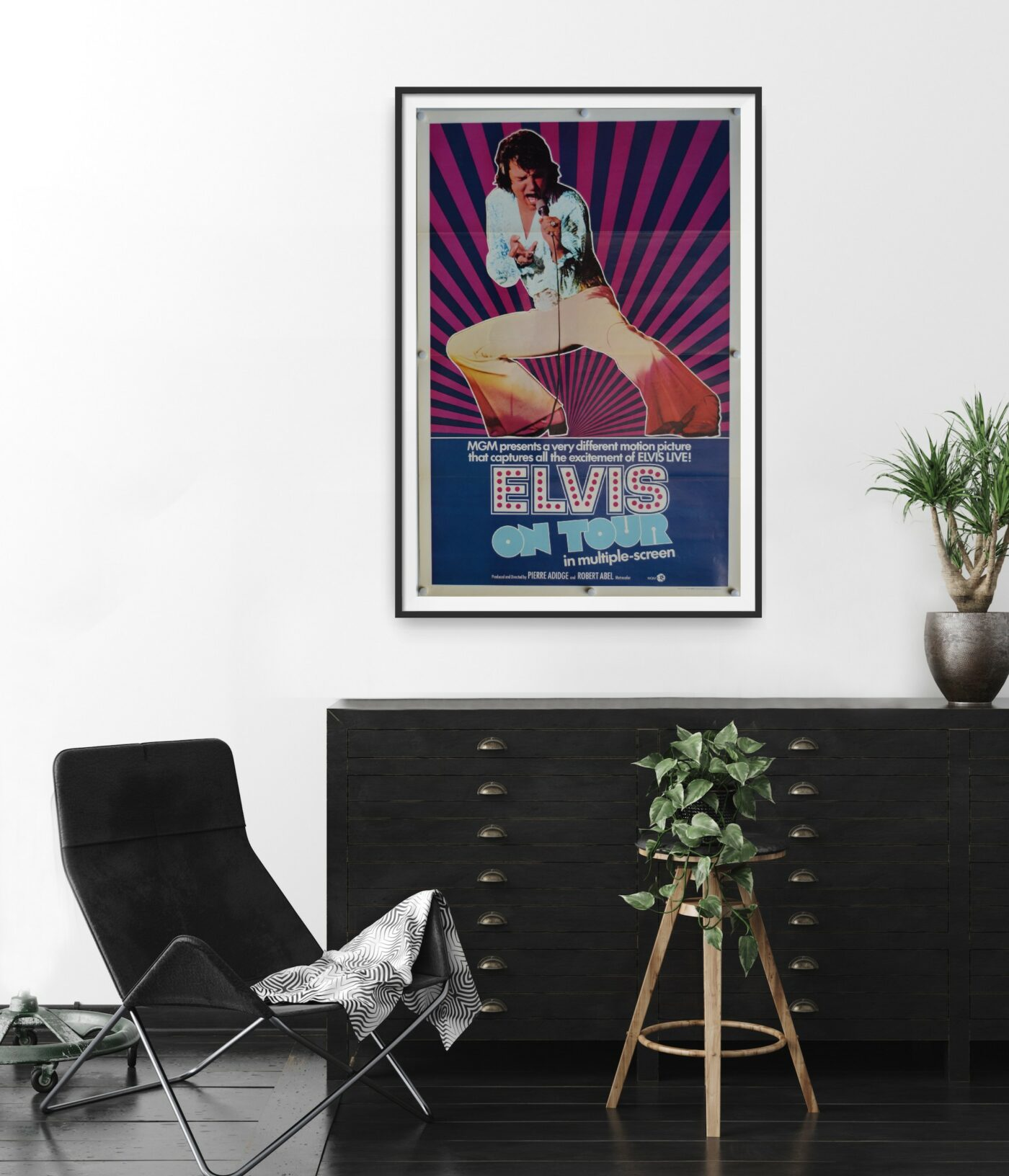 Images shows a poster for the 1972 documentary Elvis On Tour.