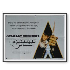 A Clockwork Orange (1971) UK Quad Poster