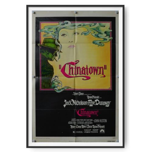 A US poster for the film Chinatown showing Jack Nicholson and Faye Dunaway.