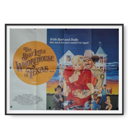 Dolly Parton and Burt Reynolds can be seen on this movie poster image.