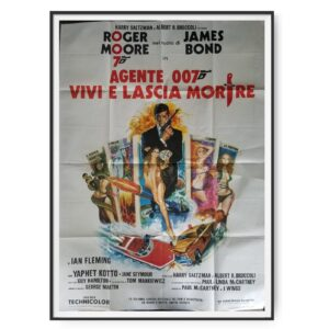 Live And Let Die (1973) Italian 2 Folio Poster