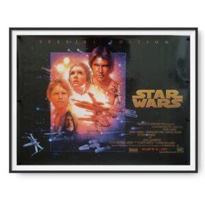 Star Wars (1977) Original UK Quad Poster 1997 RR